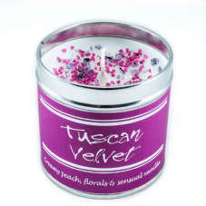 Best Kept Secrets TUSCAN VELVET Candle Tin - Seriously Scented!  50 hr burn time